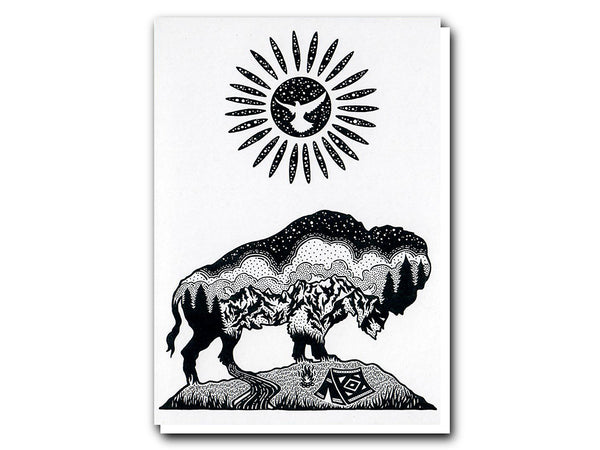 Illustrate Cards The Bison & The Sun by Lloyd Stratton