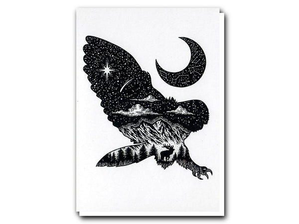 Lloyd Stratton greeting card Illustrate The Owl and The Moon