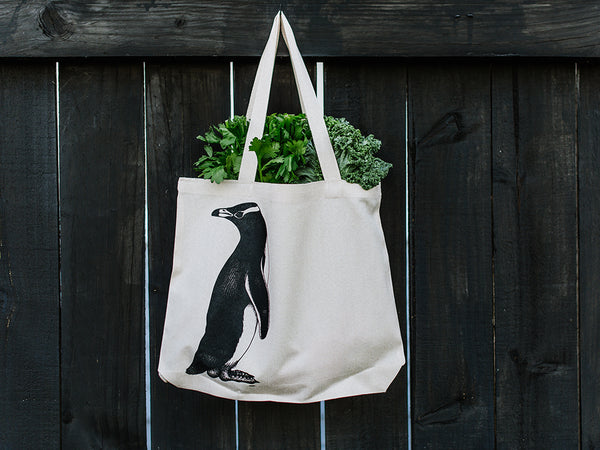 Penguin // Hemp Tote Bag