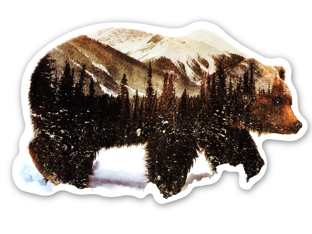 Illustrate sticker by Andreas Lie Arctic Grizzly Bear