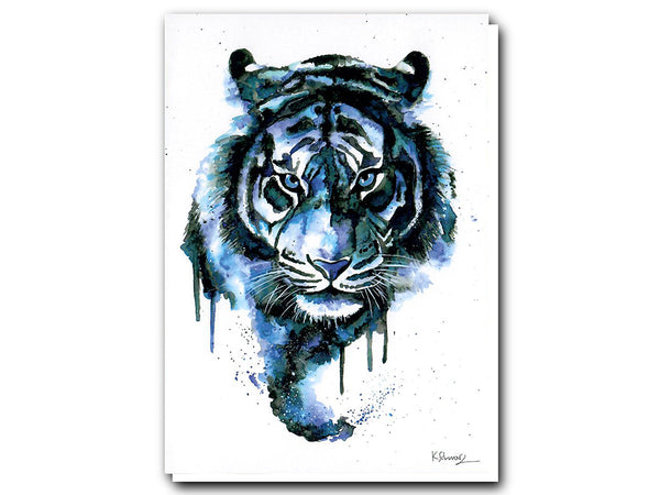 Illustrate Greeting Cards Blue Tiger by Colors of the Wild