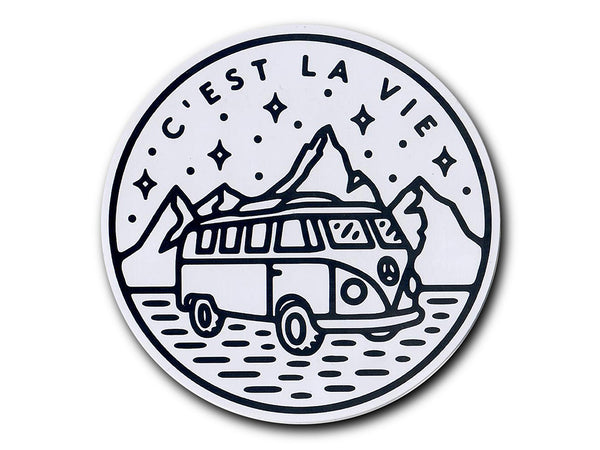 Illustrate stickers C'est La Vie by Liam Ashurst