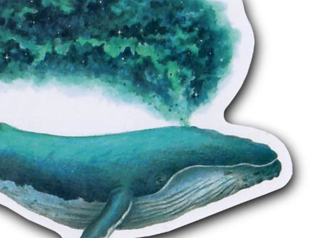 Illustrate sticker David Art Cosmic Whale