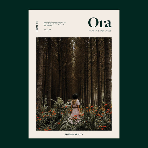 Cover of issue 01 - Sustainability of Ora Magazine