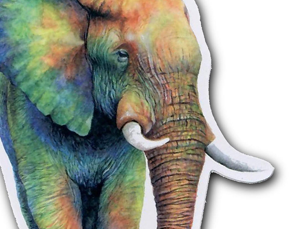 Illustrate sticker Colors of the Wild Rainbow Elephant