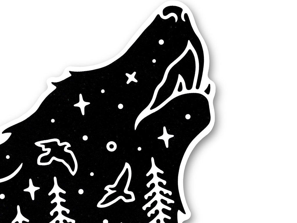 Illustrate sticker Wolf Howl by Liam Ashurst
