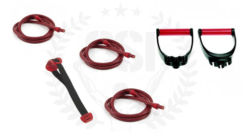 Lifeline R4 bundle: 3x 18kg weerstand + triple handle grips + heavy duty deuranker