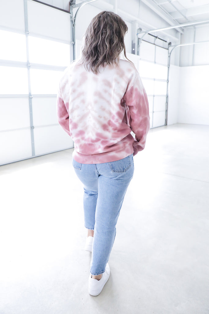 Pink Tie Dye Pullover