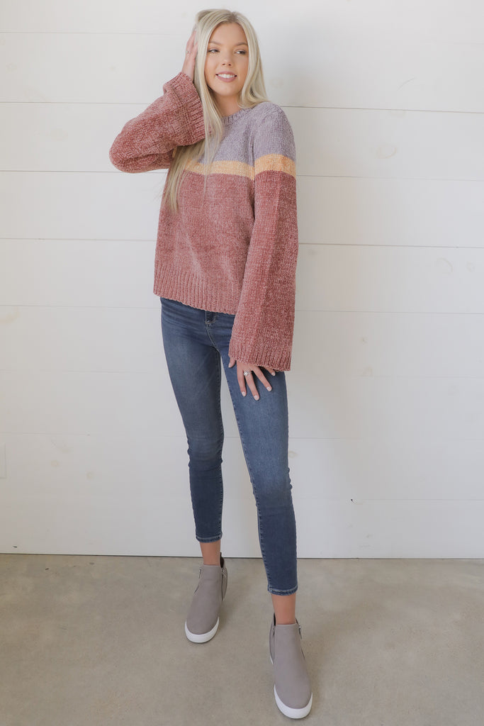 Circle Closed Color Bock Sweater - Ty Alexander's Sweater Collection