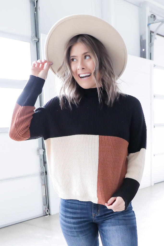 Fall Block Sweater
