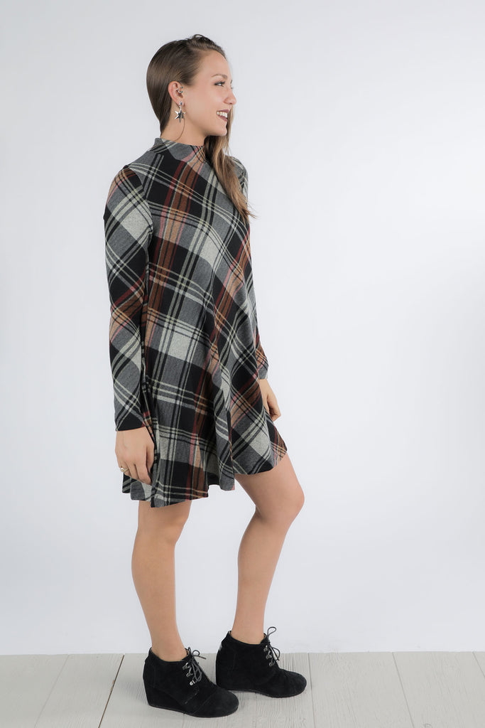 Goin' Plaid Dress -Ty Alexander's