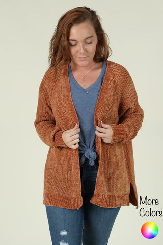 Falling In Love- Chenille Cardigan- Ty Alexander's