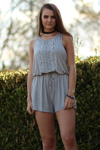 Roads- Light Grey Romper- Ty Alexander's