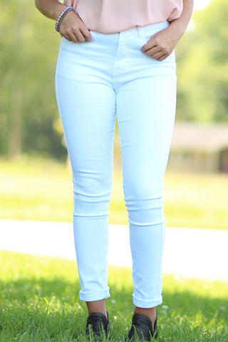 Ty Alexander's -  High Waisted White Skinny Jeans