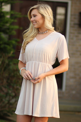 Ty Alexander's - V Neck Cinched Waist Dress