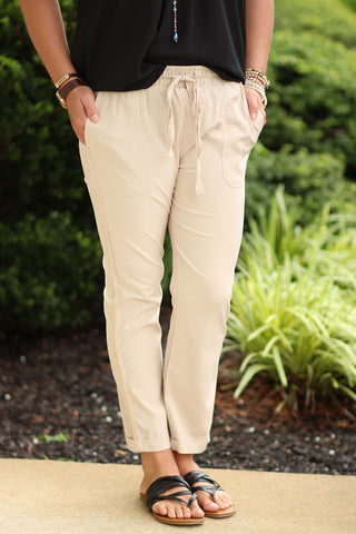 Wonder Aways Wonder Often- Waist Tie Pants with Pockets - Ty Alexander's