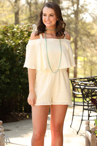 Hanging On The Line - Linen Romper