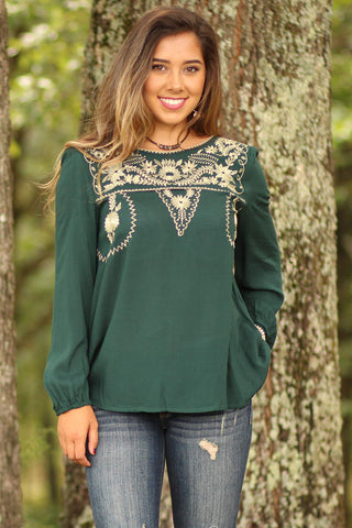 Top With Embroidered Detail - Ty Alexander's