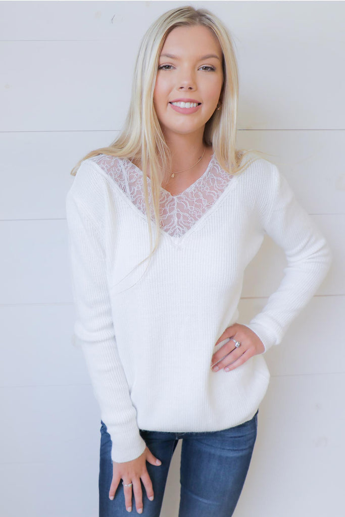 Oh, So Lacey Sweater - Ty Alexander's
