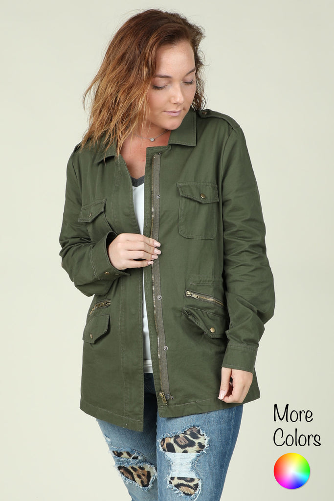 Hey There- Drawstring Jacket