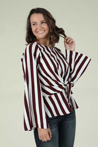 Vertical Striped Blouse - Ty Alexander's