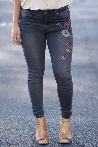 Upgraded - Embroidered Jeans - Ty Alexander's