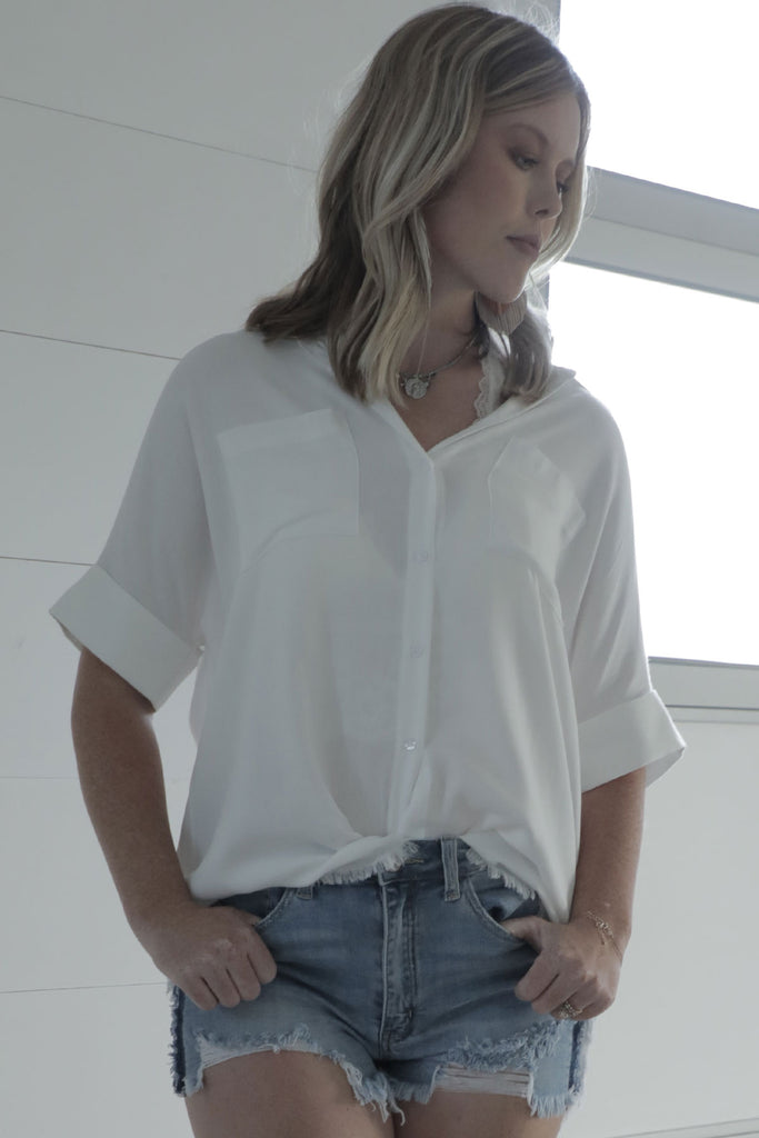 Fresh and Free - White Button Down - Ty Alexander's