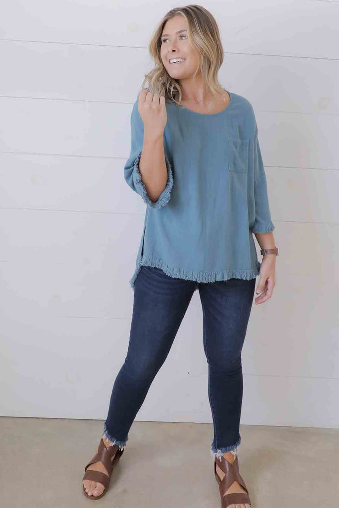 Take It From Me Linen Top - Umgee - Ty Alexander's Top collection