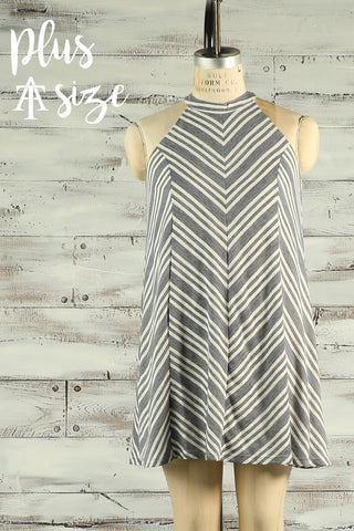 Striped Knit Dress - Plus - Ty Alexander's