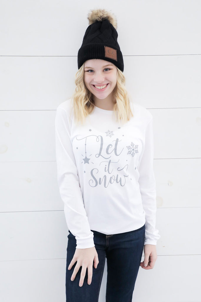 Let It Snow Long Sleeve T-Shirt- Ty Alexander's