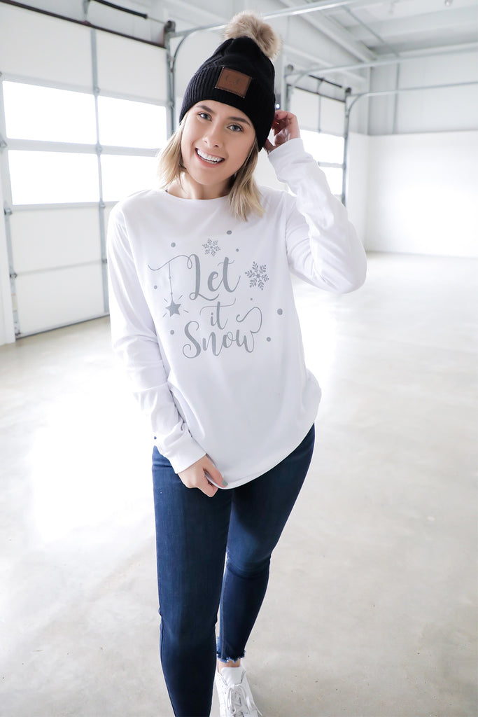 Let It Snow Long Sleeve T-Shirt- Ty Alexanders