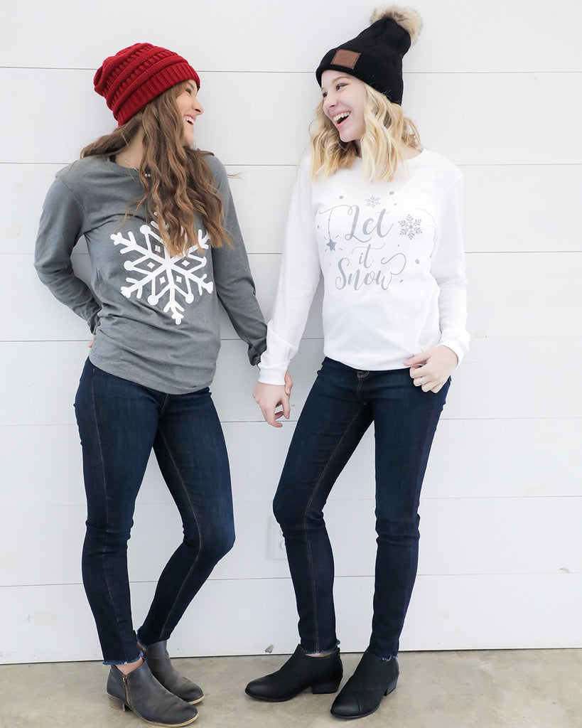 Snowflake  Long Sleeve T-Shirt- Ty Alexander's