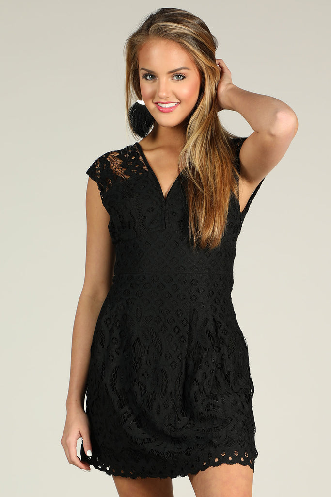 Waking Up There - Lace Romper - Ty Alexander's