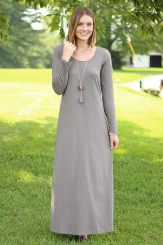 Long Sleeve Maxi Dress - Ty Alexander's
