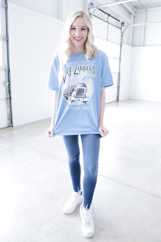 Def Leppard Pastel Night Tee