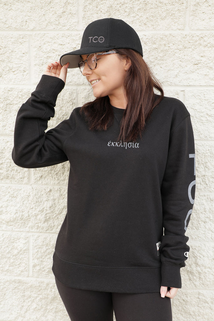 TCO Ekklesia Champion Sweatshirt w/ logo on sleeve