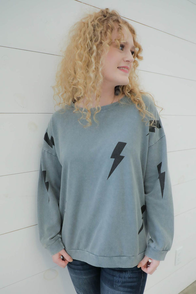 Struck by Lightning Sweatshirt - Ty Alexander's