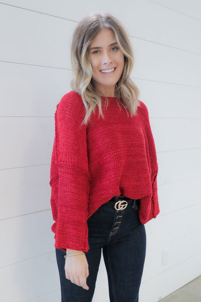 The Perfect Red Sweater - Ty Alexander's