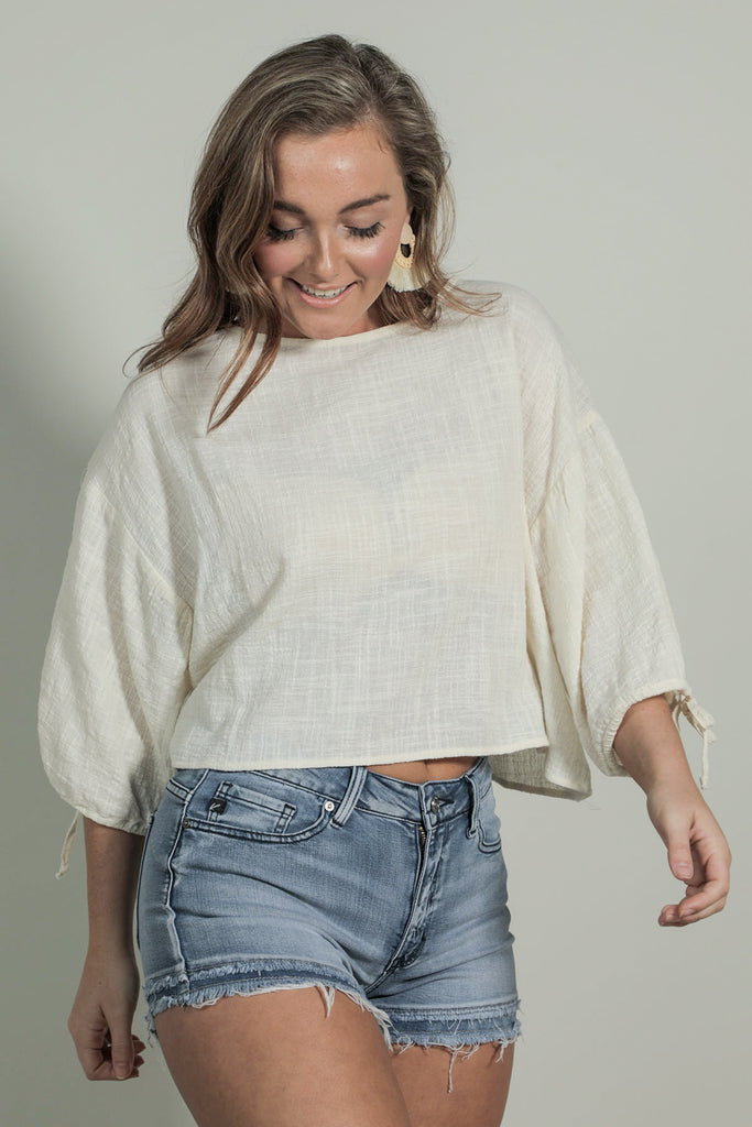 Flight Out - Crop Blouse
