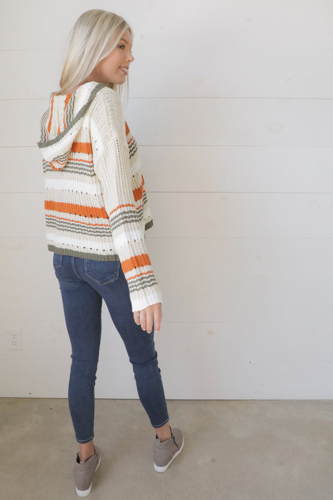 Getting Closer Beige Multi Sweater - Ty Alexander's Sweater Collection