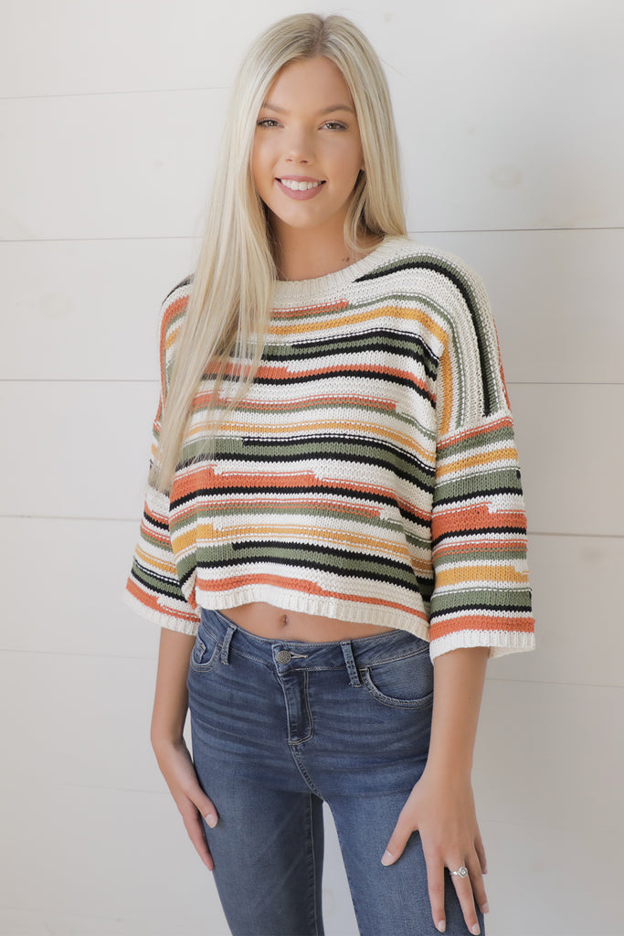 Friend Of Mine Striped Sweater - Ty Alexander's Sweater Collection