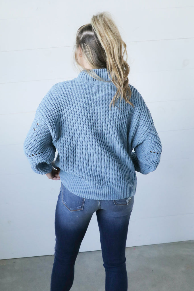 Make It True Light Blue Sweater - Ty Alexander's Sweater Collection