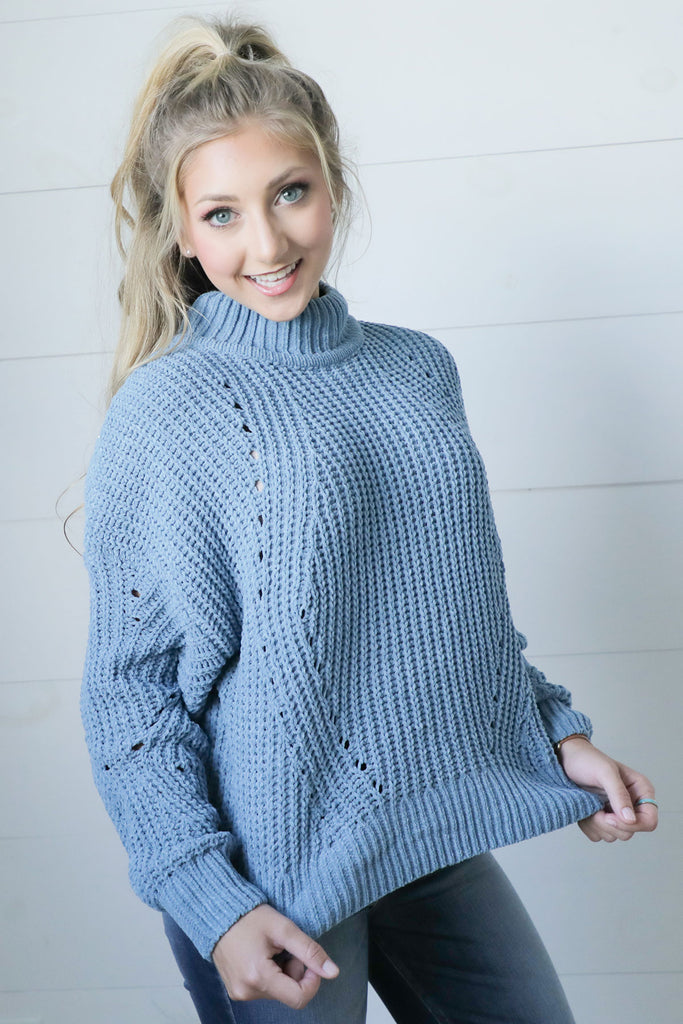 Make It True Light Blue Sweater - Ty Alexander's Sweater Collecti