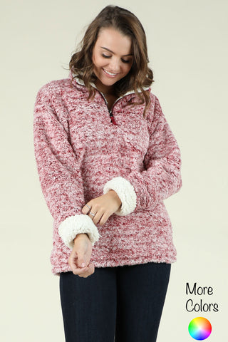 Cozy - Quarter Zip Sherpa Pullover