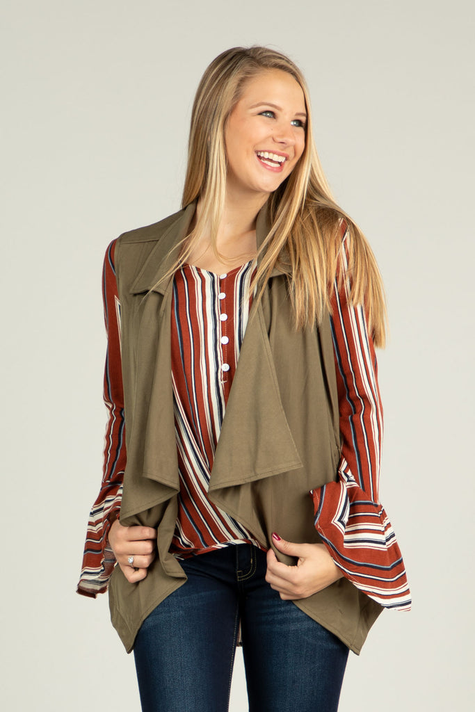Bring Your Best - Military style draped lapel vest