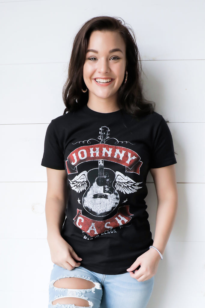 Johnny Cash Guitar Tee