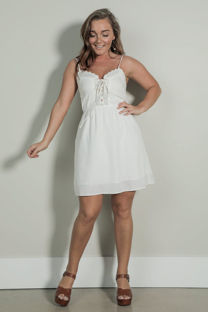 Keep Fallin For You - Cream Dress