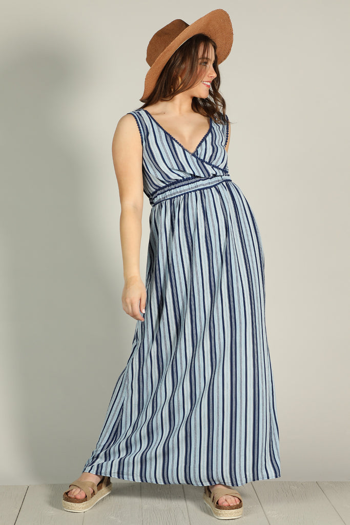 Cotton Blues - Maxi Dress - Ty Alexander's