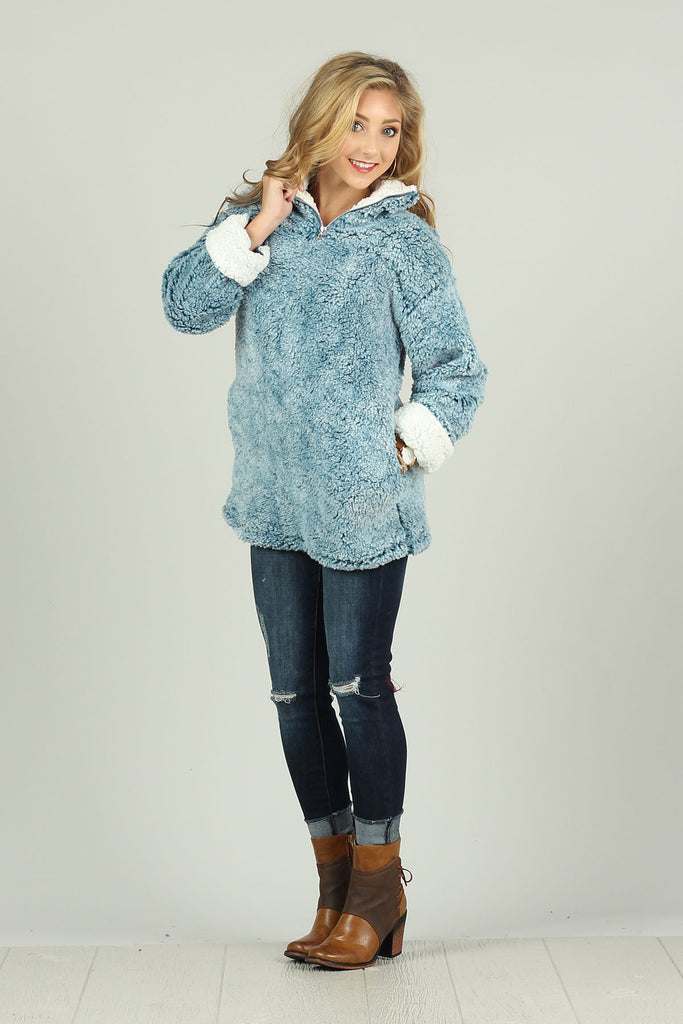 Snuggle Me Sherpa - Pullover jacket with Pockets - Ty Alexander's