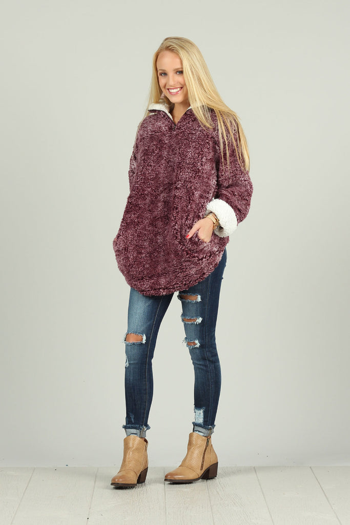 Snuggle Me Sherpa - Pullover jacket with Pockets